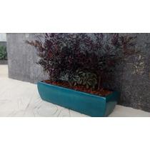 Jardineira / Floreira Em Fibra Estilo Vietnamita Turquesa