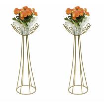 Floreira Suporte Vasos Armação Pedrarias Casamento 2 Peças