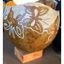 Lindo Vaso Decorativo Temática Indígena - Borboleta