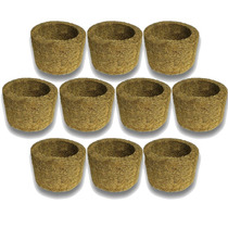 10 Vasos Xaxim De Palmeira T3 Para Orquídeas E Samambaias