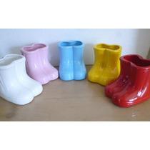 *0522* Botinha De Cerâmica - Vasinho - Galocha Decorativa
