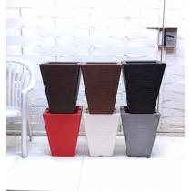 Kit Com 6 Vasos Para Planta E Flores De Polietileno 45x35 Cm