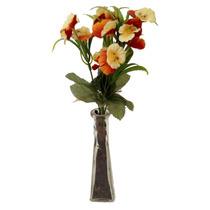 Vaso De Vidro Arranjo Flores Artificiais Lindo! Novo