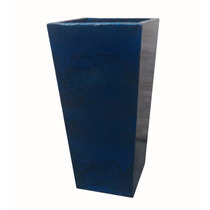 Vaso Cone Quadrado Fibra De Vidro Estilo Cerâmica Vietnamita
