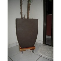 Suporte Para Vasos Quadrado 30cm - Rodinhas De Gel