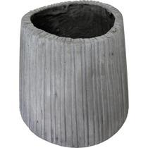 Vaso Gray Pequeno Em Fibra De Cimento