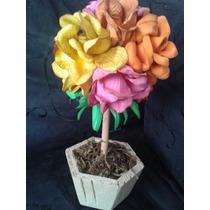 Topiaria Com Flores Eva