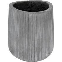 Vaso Gray Médio Em Fibra De Cimento
