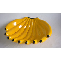 Cesta Decorativa Fruteira Em Forma De Banana Para Cozinha