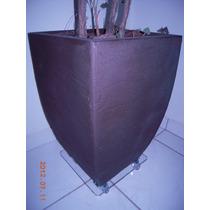 Suporte Para Vasos De Acrilico 20cm -plantas Jardins Rodizio