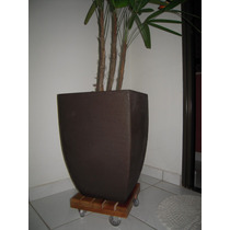 Suporte Para Vasos Quadrado 25cm - Rodinhas De Gel