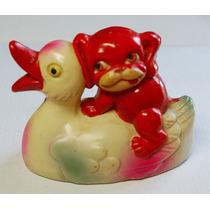 Brinquedos Antigos - Pato E Gato Em Plástico Celofane