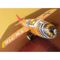 Avião A Lata Antigo Italiano Fricção Brinquedo Relíquia Já