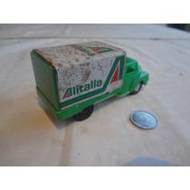 Caminhao Alitalia Glasslite Brinquedo Anos 70/80