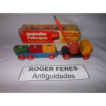 Caminhão De Madeira Estrela Guincho Série Magnetica Anos 60