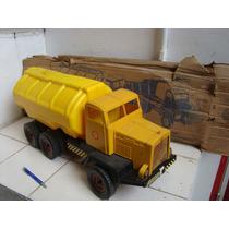 Antigo Caminhão Tanque Shell Plástico Da Atma 64 Centímetros