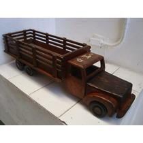 Brinquedos Estrela - Antigo Caminhão De Madeira De 1957