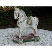 Cavalo De Brinquedo Antigo Decada De 40 - 31 X 37 Cm