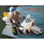 Miniatura Brinquedo Antigo Motor Cycle Police Jumbo 1/16moto