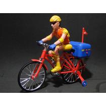 Bicicleta Eletrica Com Musica E Luzes Boneco Articulado 20cm