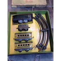 Raríssimo Brinquedo Trem Metal Trilhos Completo Na Caixa