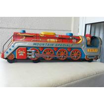 Trenzinho De Lata Antigo 1960 48x11x12 Cm