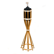 Tocha De Fogo Bambu Lamparina Decoração Mesa 35cm Colors