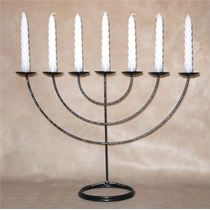 Menorah Judaico Tradicional C/ Velas Ferro Grande