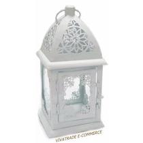 Luminária / Lamparina / Lanterna Marroquina + Vela De Brinde
