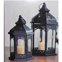 Kit 2 Luminárias/lamparina /lanterna Marroquina/porta Velas