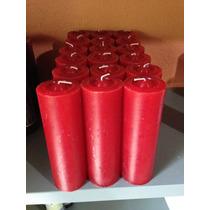 Velas De 7 Dias - Vermelha, Preta, Azul Ou Amarela 12 Unidad