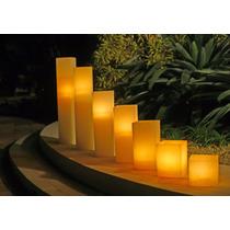 Conjunto 3 Luminária Quadrada Em Parafina Branca