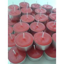 Vela Rechaud Vermelha Aroma De Canela Pacote 30 Unidades