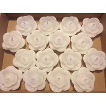 Velas Decorativas Flutuantes - Rosa Branca - 16 Unidades