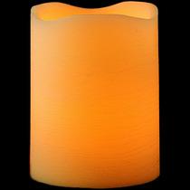 Vela De Led Pilar Grande Em Parafina - 20cm De Altura