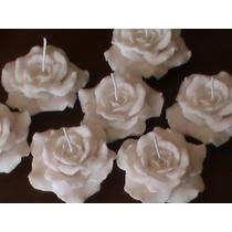 Velas Rosas Flutuantes Decorativas. Pacote Com 20 Unidades