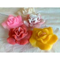 Vela Rosas Grandes Flutuantes- Para Piscina Kit 20 Unidades