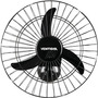 Ventilador De Parede Oscilante 50cm Bivolt Aço Preto Venti