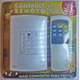 Controle Remoto Ventilador Lâmpada Com Interruptor De Parede