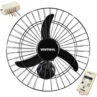 Ventilador 50cm Oscilante Parede Ventisol C/ Controle Remoto