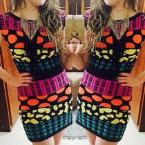 Vestido Étnico Em Tricot / Maravilhoso!