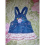 Vestido Jeans Infantil Importado Marca Joy Tam.2 S/strech S8