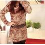 No Brasil! Vestido Lã Maxi Suéter Apeluciado Panicat Inverno