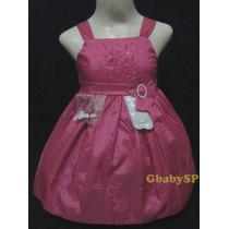 Vestido De Festa Infantil Princesa - Rosa - Super Promoção