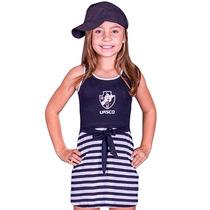 Vestido Do Vasco Infantil Feminino Criança Menina