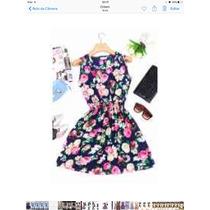 Vestido Floral Verão Curto Chiffon