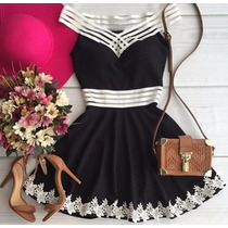 Vestido Curto Colado Decotado Casual Ou Festa #t13 Feminino