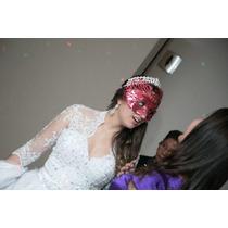 Vendo Vestido De Noiva, Com Coroa E Saiote Completo Lindo.