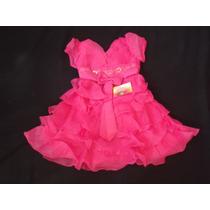 Vestido Infantil Festa/princesa/casamento/florista Pink 6
