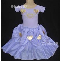 Fantasia Vestido Festa Infantil Princesa Sofia - Princesas